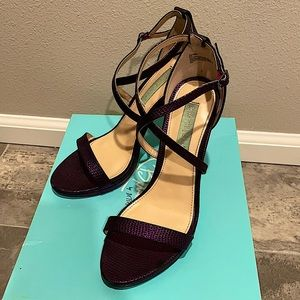 Betsy Johnson SB-Andi Purple Strappy Heels